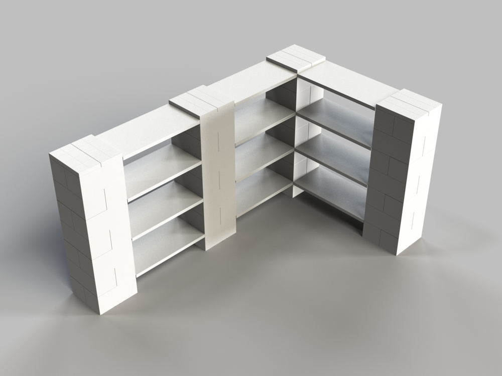 4 Level Double Corner Shelf A