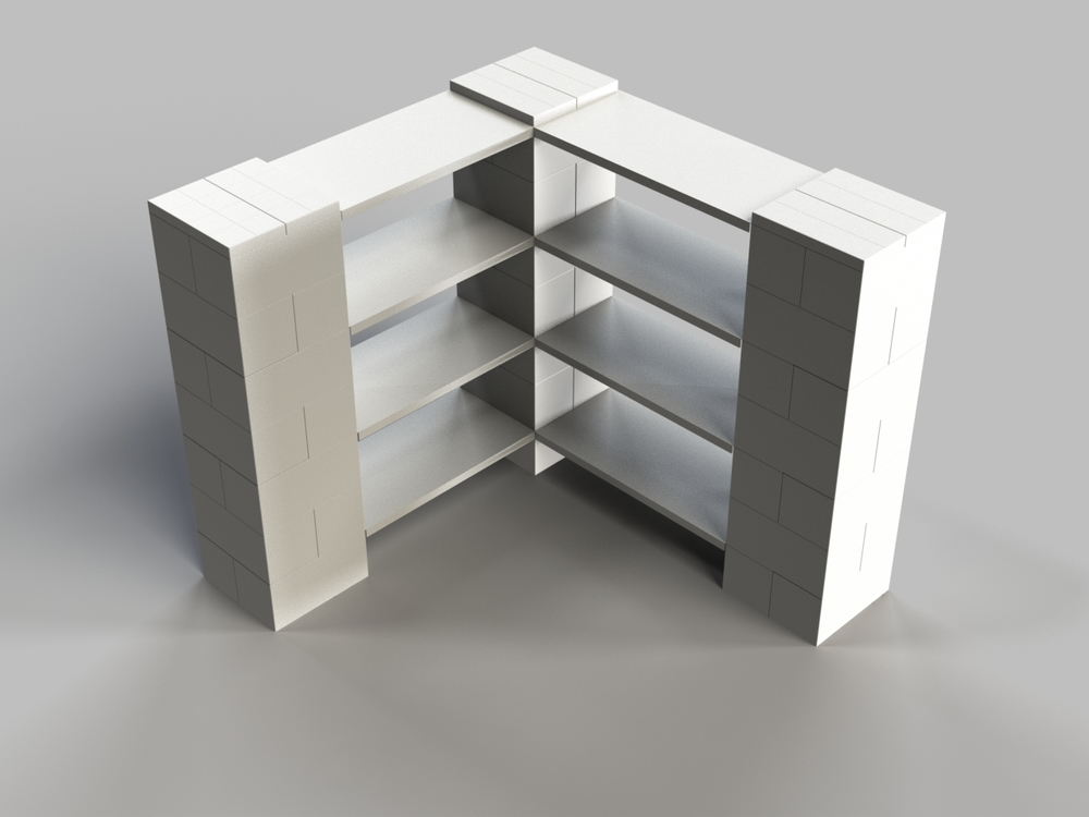 4 Level Corner Shelf A