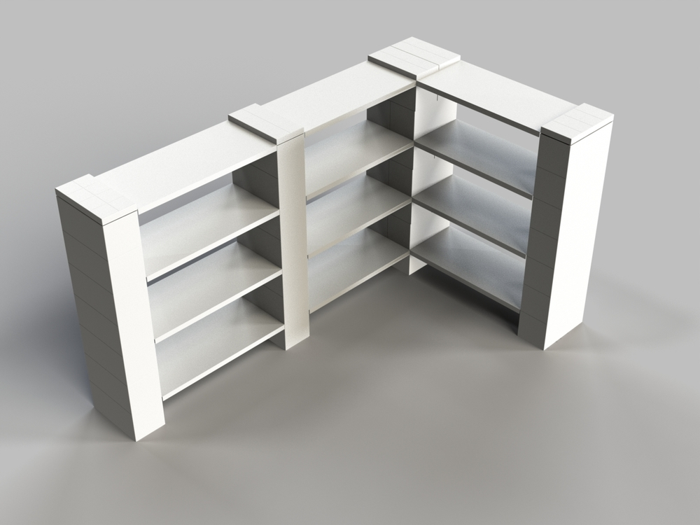 4 Level Double Corner Shelf B
