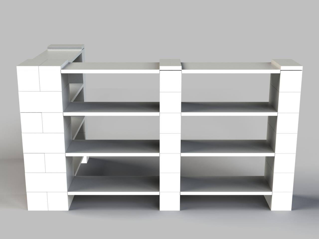 4 Level Double Corner Shelving Kit B Everblock Systems