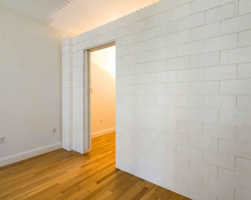 Use EverBlock in place of bookshelf walls or pressurized walls, eliminating the dust, dirt, and potential damage caused by construction.