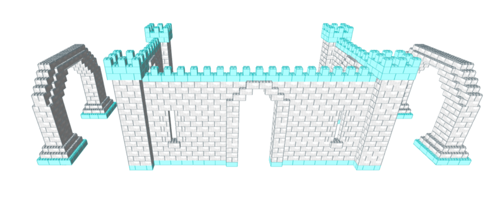 "EverBlock Systems 3D rendering of the ""ice"" castle"