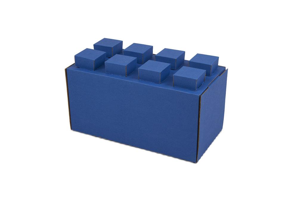 """Full-Size Cardboard Block 12""""L x 6""""W x 6""""H (+1"""" for lugs) -lbs."""