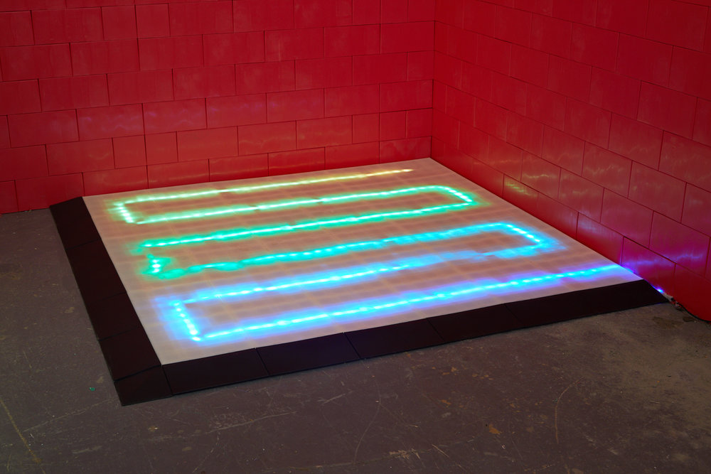 Like EverBlock Building Blocks, EverBlock Flooring can be illuminated using colorful LED Lights