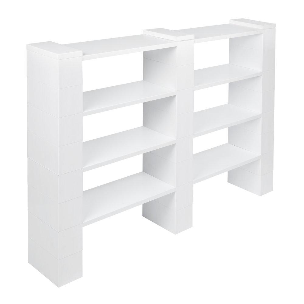 """4 Level, Double Shelf, 72""""W EverBlock Shelving Kit"""