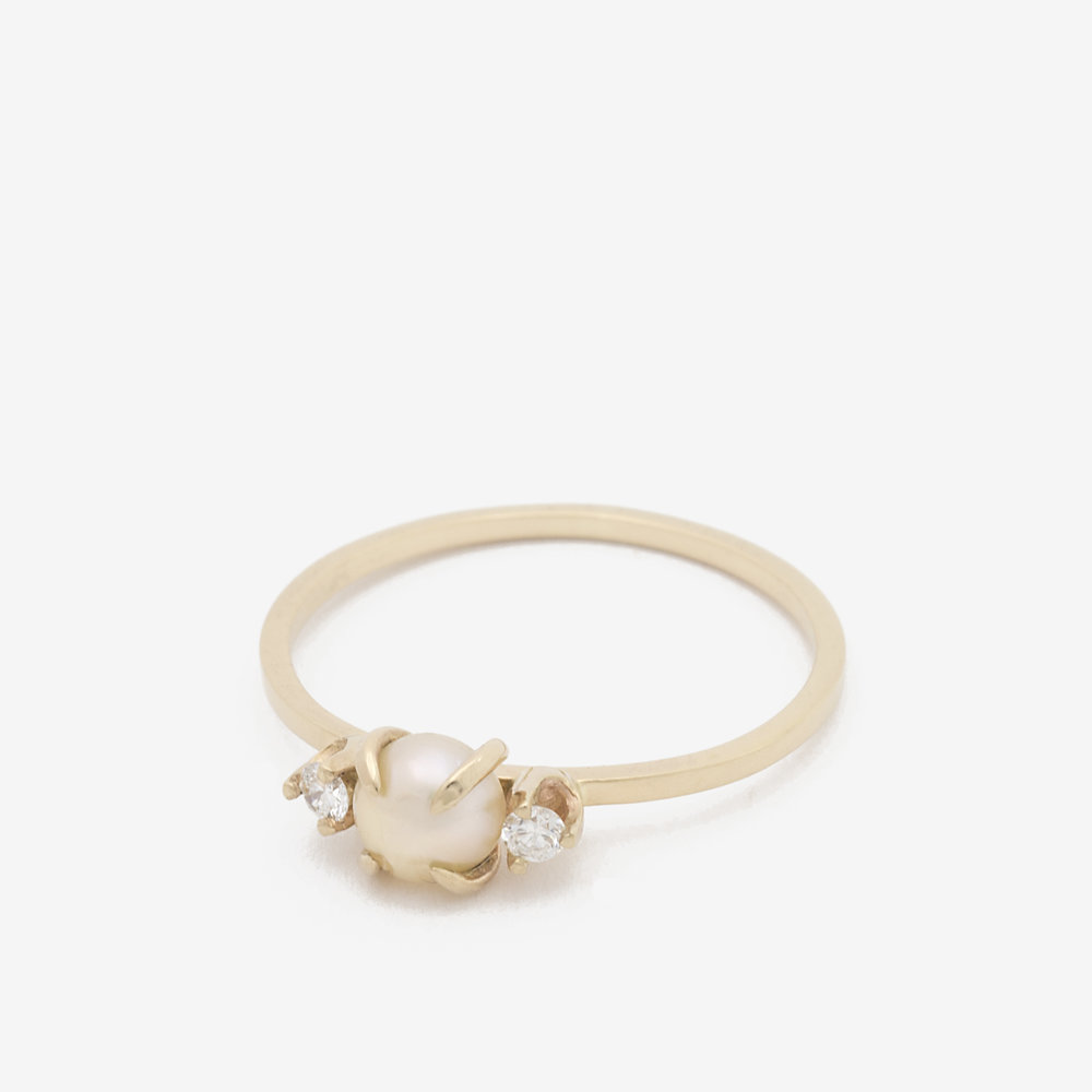 dpd ring dpd ring diamond pearl and 14k gold