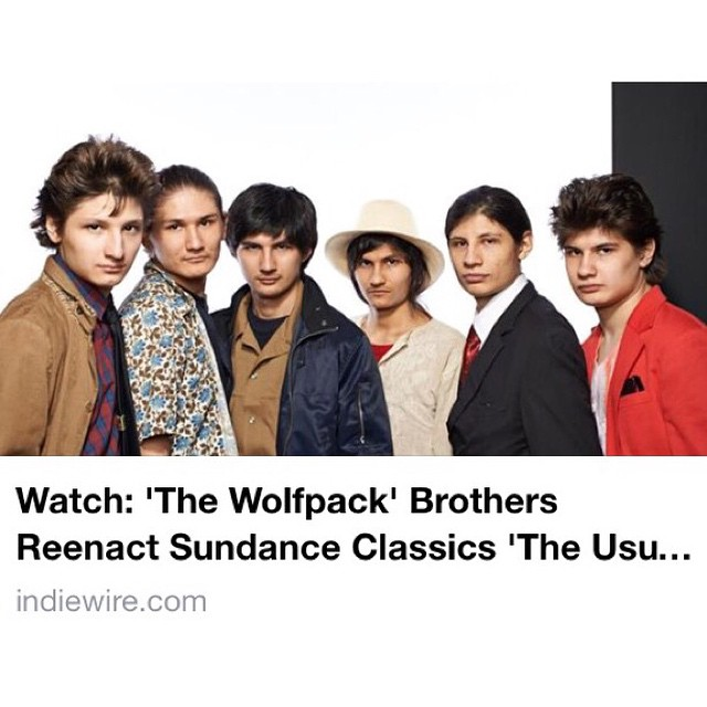 The Usual Suspects, Clerks, El Mariachi, and a twist on The Blair Witch Project...The Wolfpack  reenactment some of their favorite  Sundance films for @sundanceinstitute ... Thank you, @indiewire indiewire.com for sharing it! 🎥💚#thewolfpackfilm #sundance15