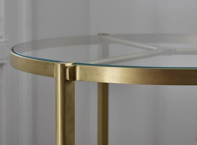 Follow up to the previous photo, a detail shot of the finished product. A solid brass custom serving / bar cart for a long term client. Grateful for the opportunity to develop ideas like this.  #brass #finefurniture #customfurniture #customhardware #furnituredesign #fabrication #metalwork #metalworking #madeinnewyork #barcart #servingcart #interiordecor