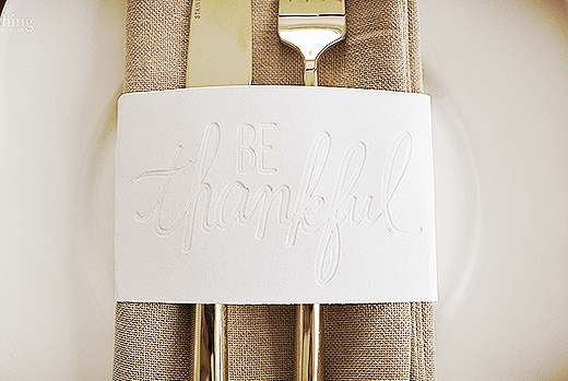 Embossed Napkin Ring