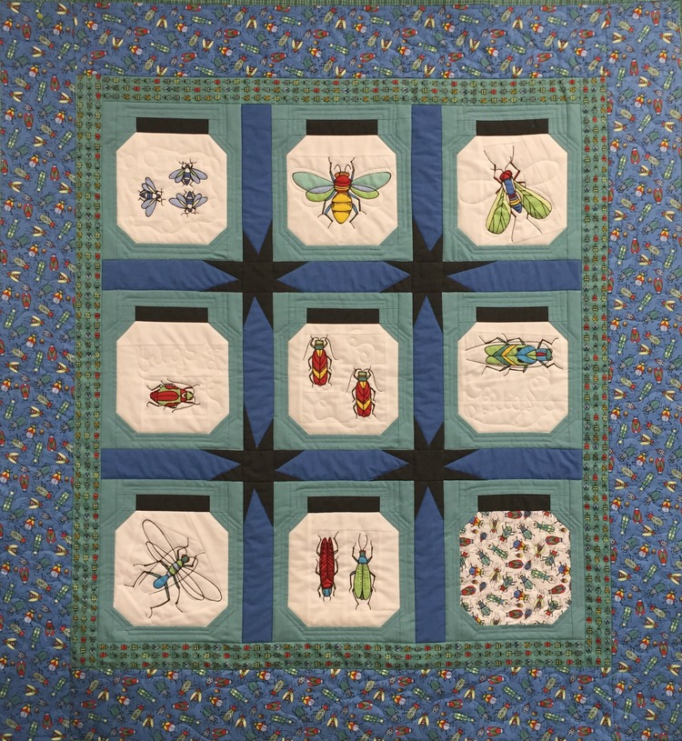 Quilts for Bear and Eric — Maxie Makes : bug quilt - Adamdwight.com