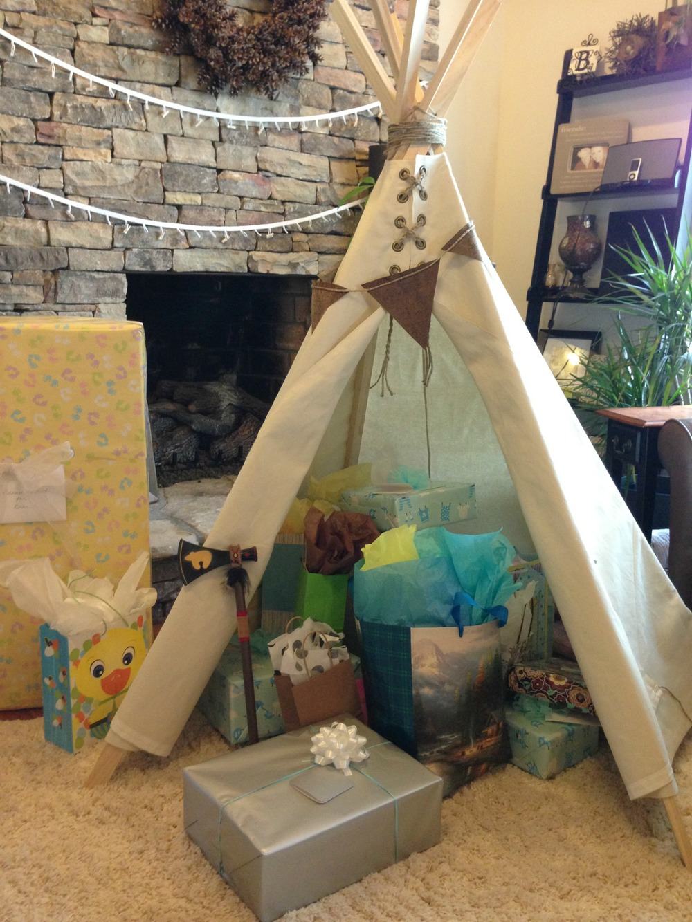 Homemade TeePee