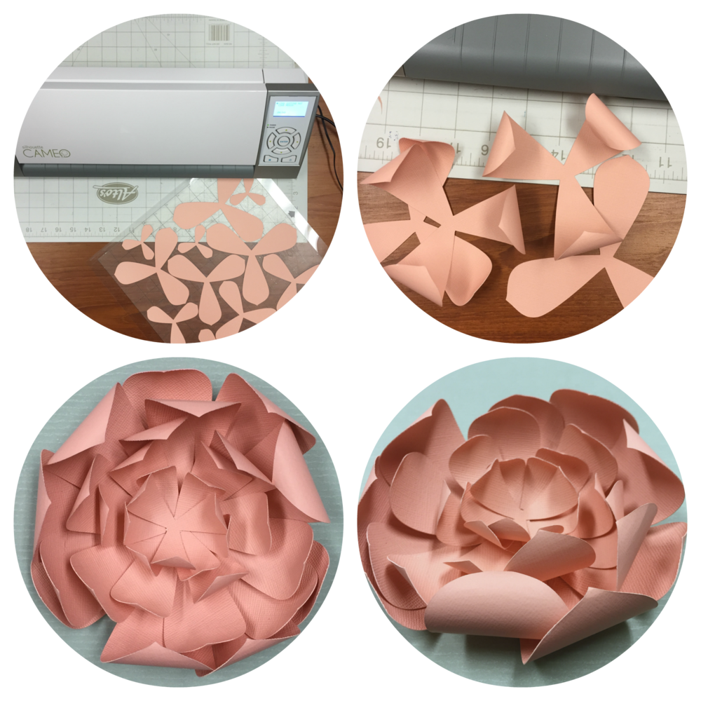 making a flower on the silhouette cameo cutter