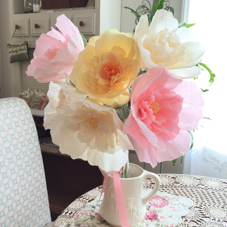 No sew italian crepe paper peonies maxie makes paper peoniesa griffiths tutorials mightylinksfo
