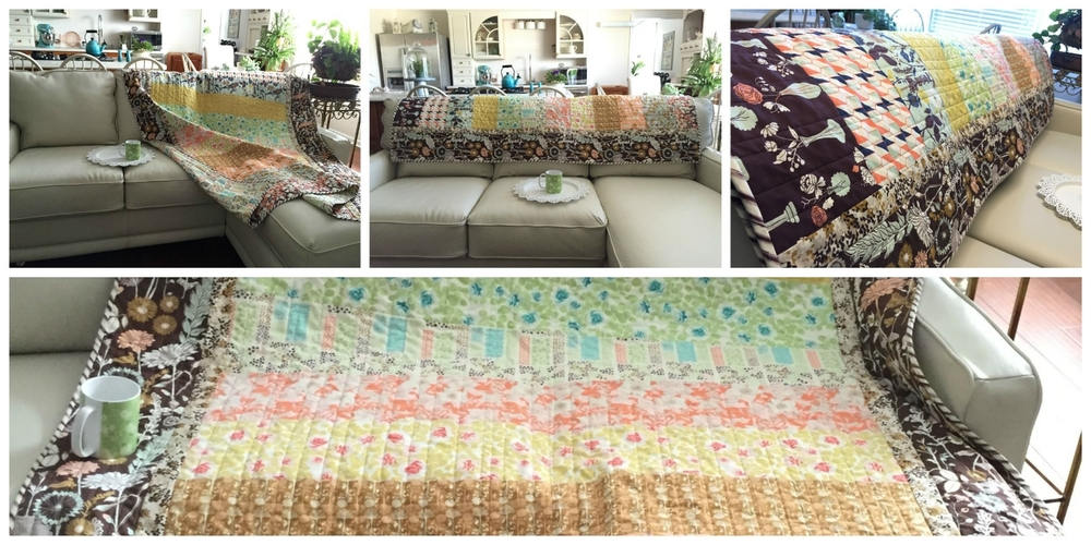 Zippy Strippy Quilt in Cultivate Fabrics by Bonnie Christine.