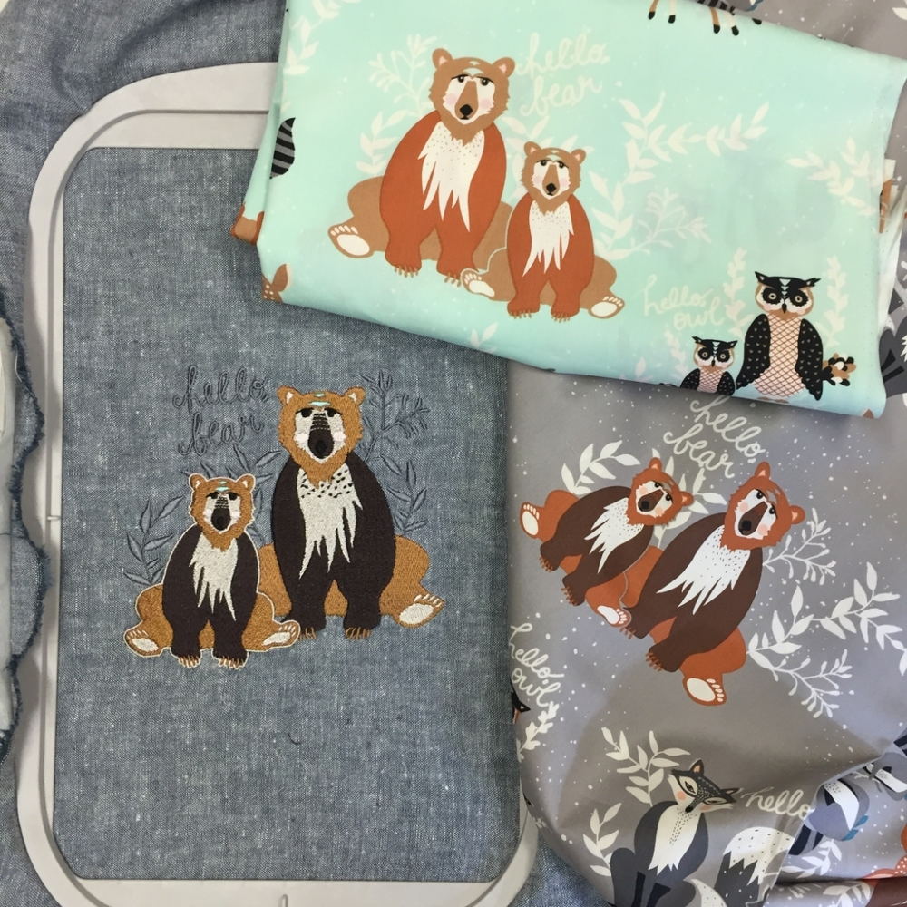 Hello, Bear Fabric by Bonnie Christine for Art Gallery Fabrics