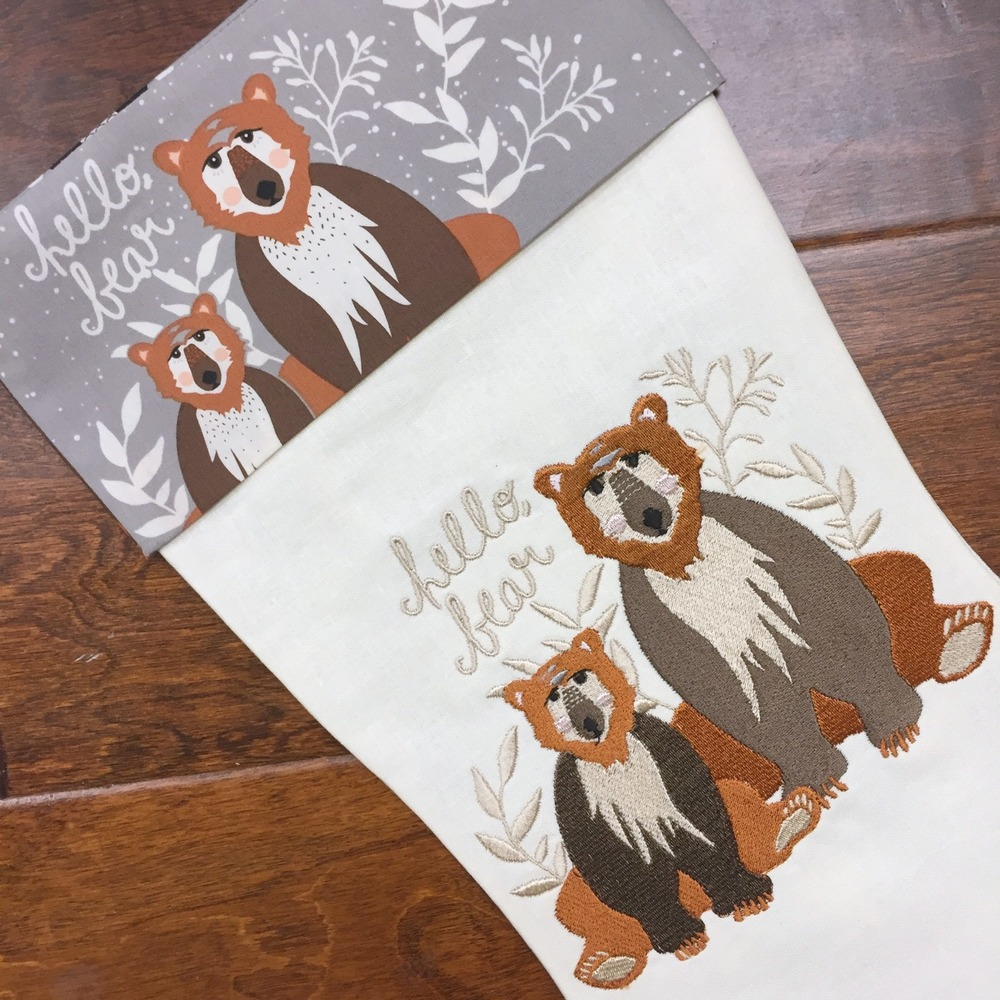 Hello, Bear Christmas Stocking