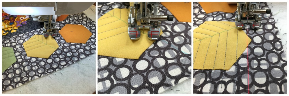 Echo Quilting a Hexagon Shape