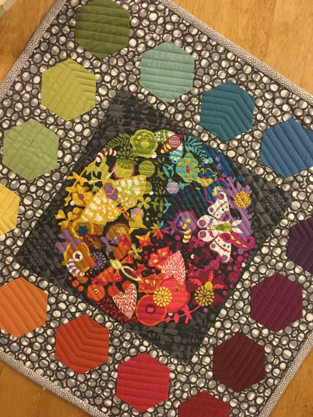 Hexagon Rainbow Quilt