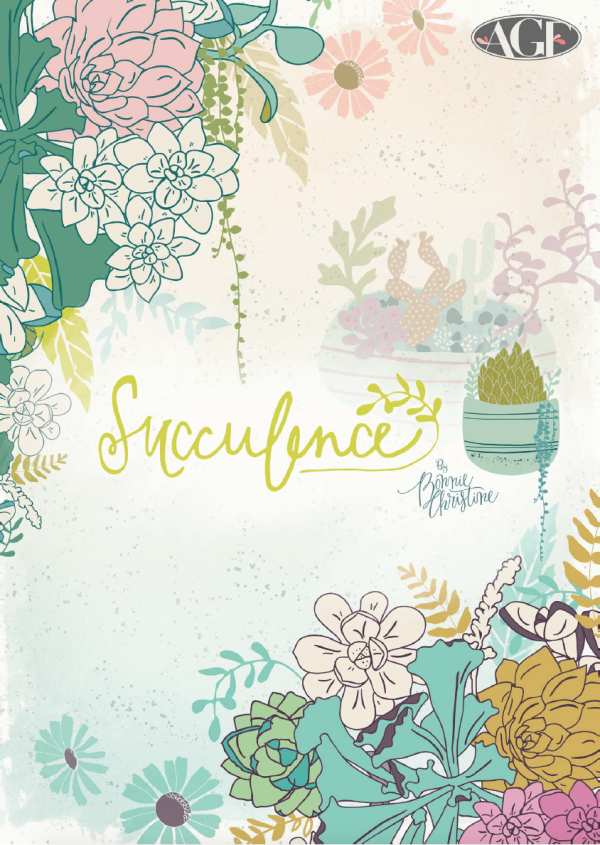 Succulence Fabrics by Bonnie Christine
