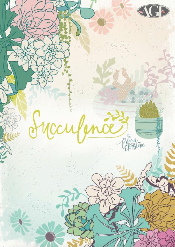 Succulence Fabrics by Bonnie Christine