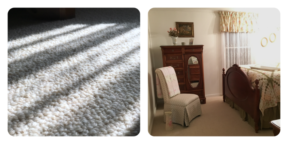 Organic wool carpeting