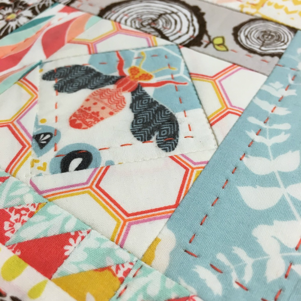 Journal Cover in Sweet as Honey fabrics.