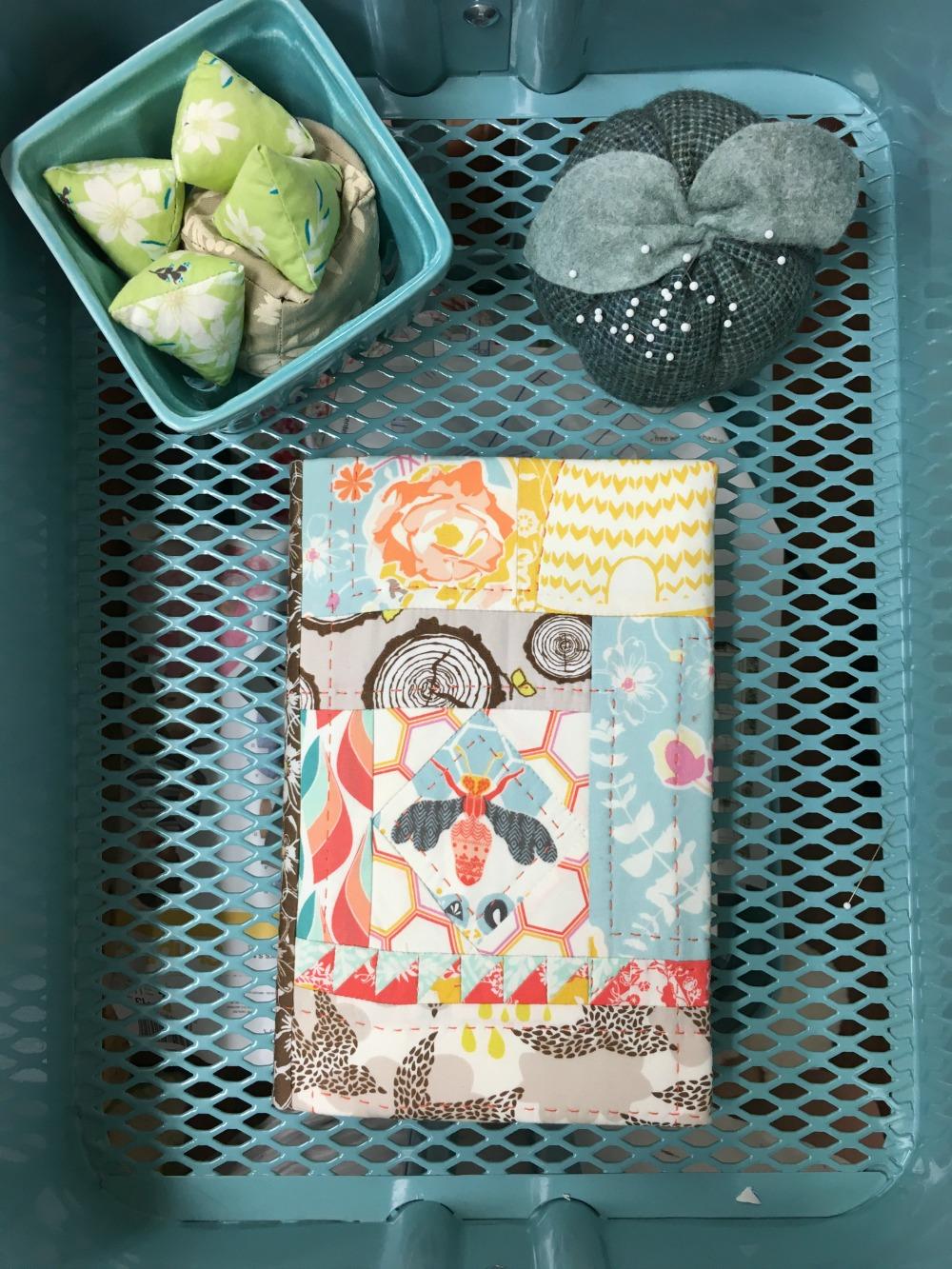 Journal Cover with Sashiko Stitching.