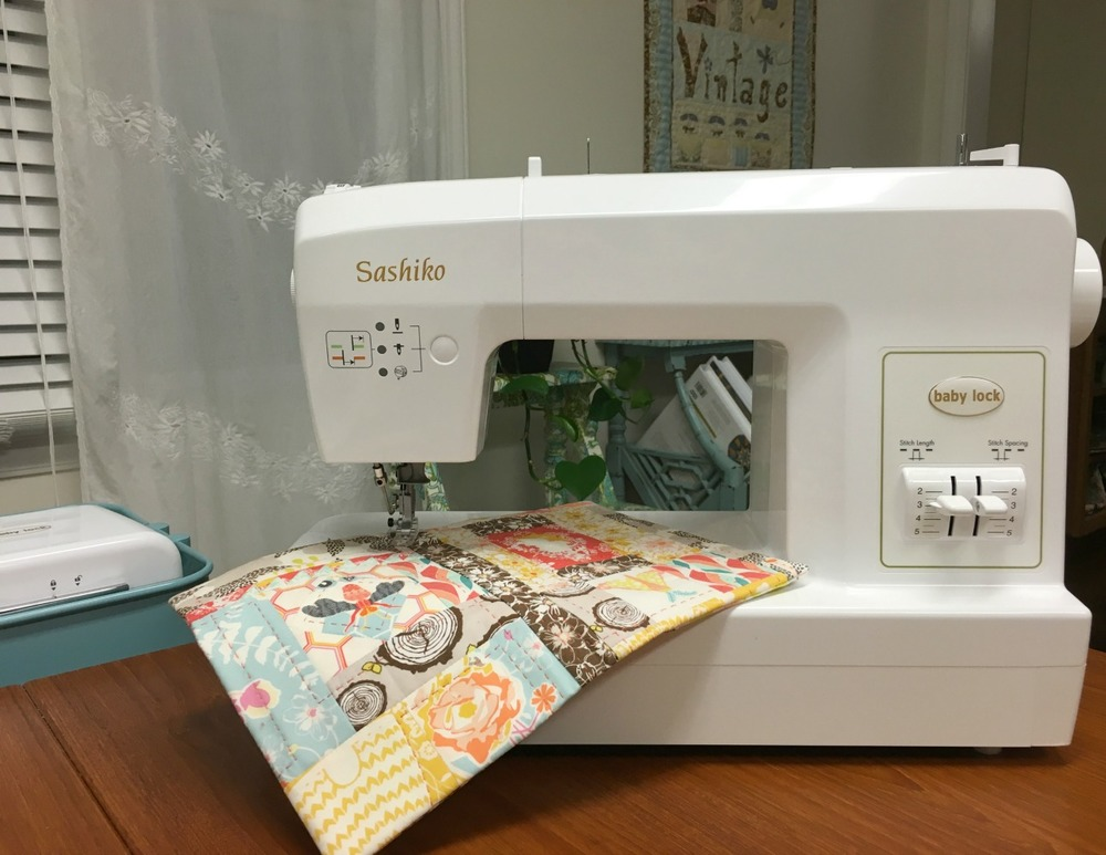Baby Lock's Sashiko machine gives a truly hand stitched look.