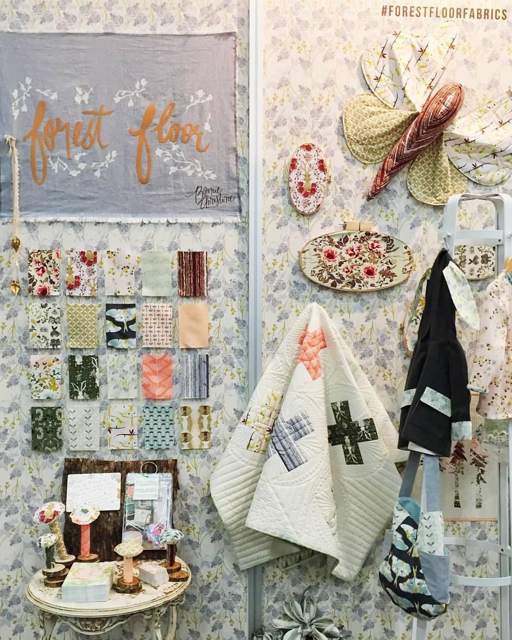 Forest Floor Fabrics at International Quilt Market