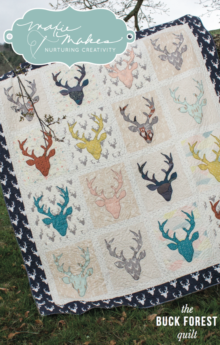 Presenting the hello bear buck forest quilt kit maxie makes hello bear buck forest quilt solutioingenieria Images