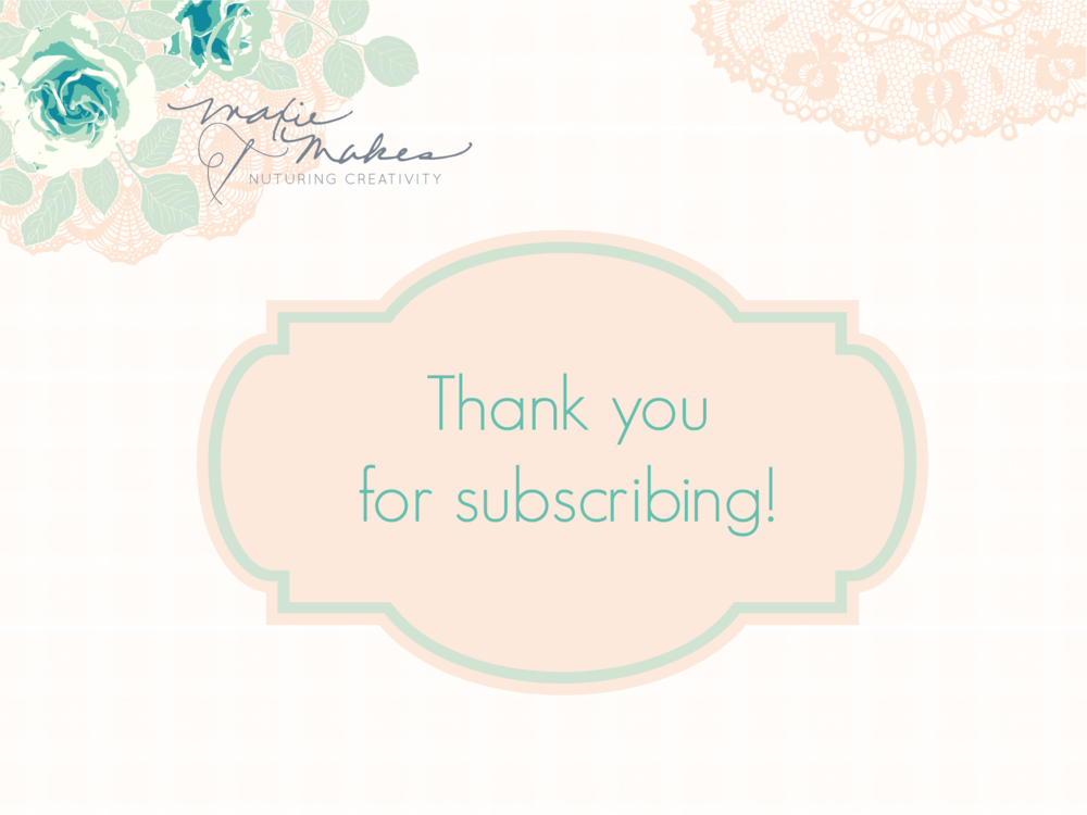 Thank you for subscribing to Maxie Mail!