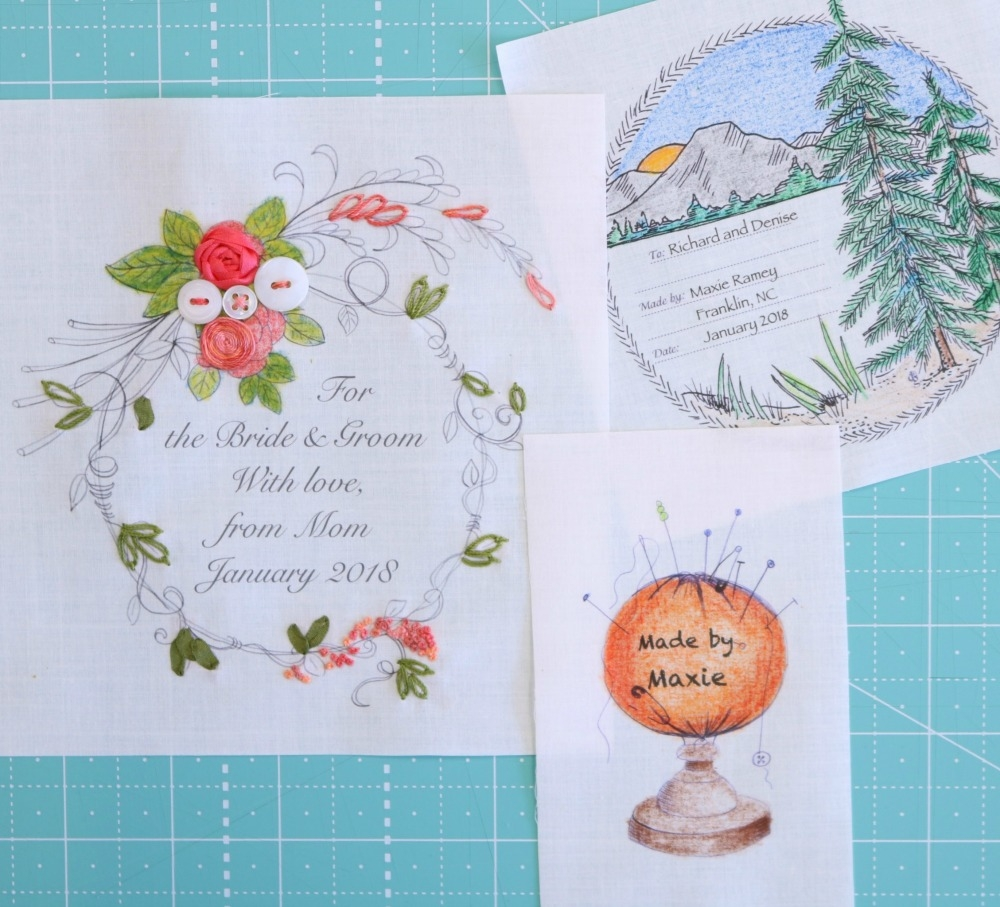 A sampling of labels from The Quilt Label Collective, Volume 2.