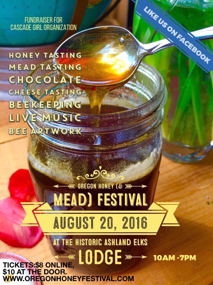 Click on the flyer to see a larger vision. Visit the Oregon Honey Festival website, celebrating bees and beekeepers.