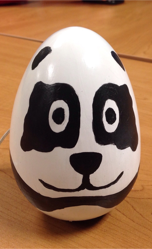 Prototype of a panda Chatter Egg.