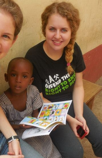 Emma during her summer in Ghana.