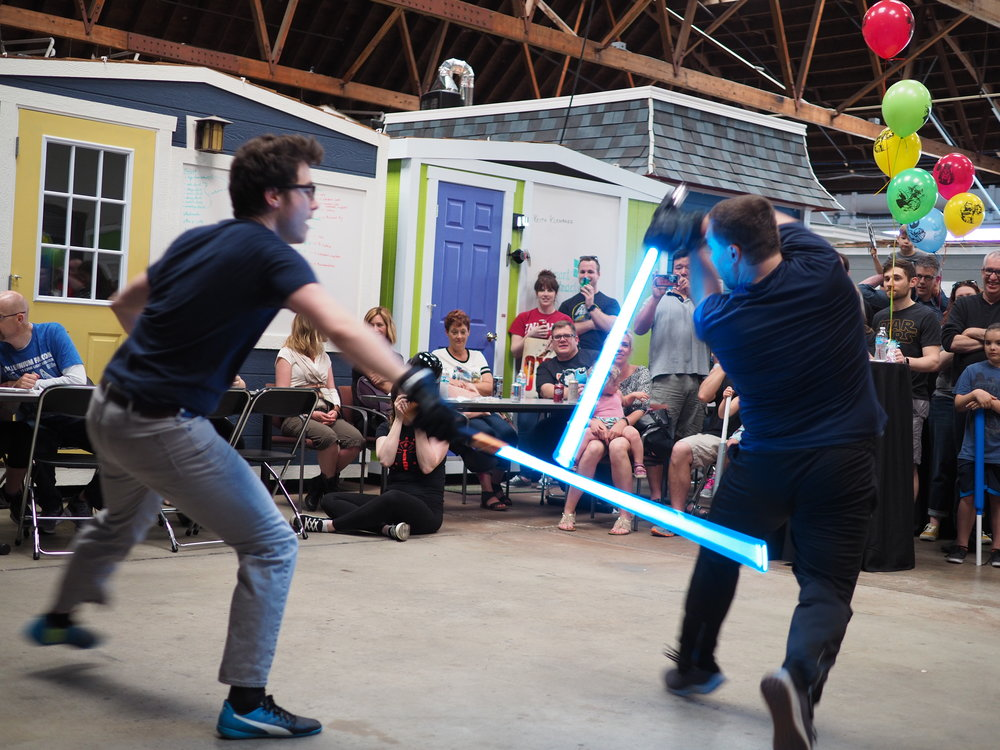 Members of the Indy Lightsaber Academy