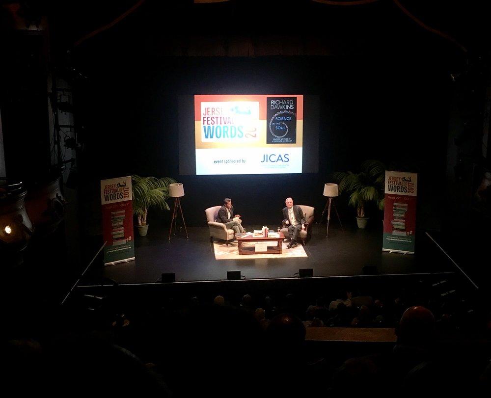 `Professor Richard Dawkins at September 2017 Cafe Scientifique
