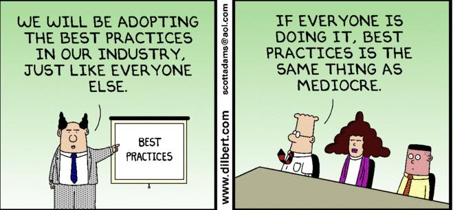 Dilbert on mediocrity