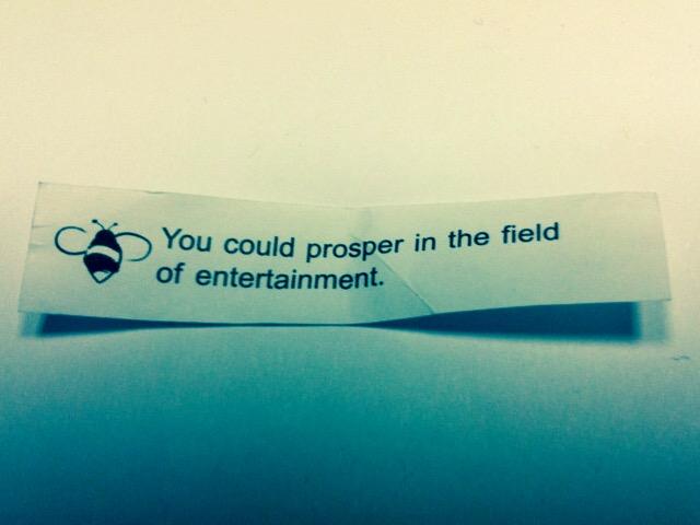Fortune cookie de hace siete años... todavía sobrevive en mi billetera
