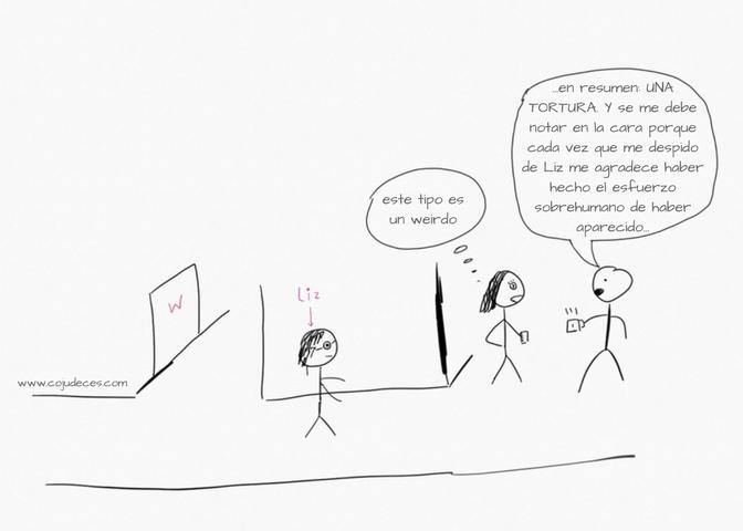 Sketch del break room y repetición del suceso