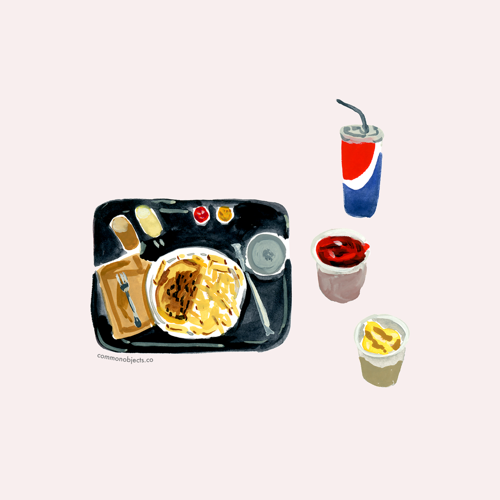 common objects - food tray