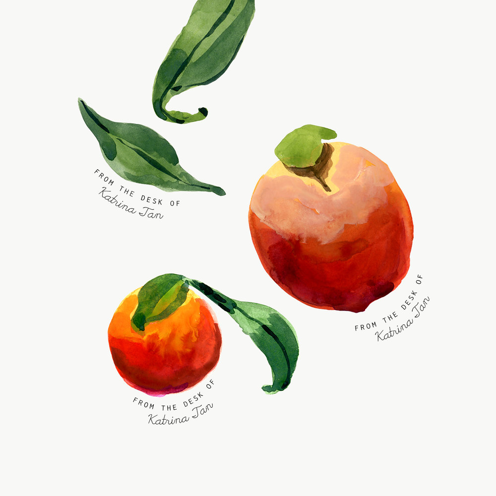 common objects peaches