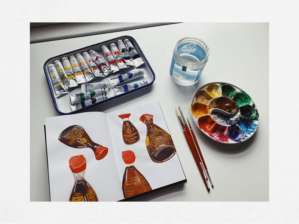 gouache equipment