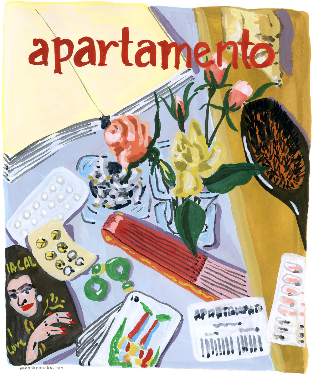 Apartamento Magazine, cover by Nazario Luque