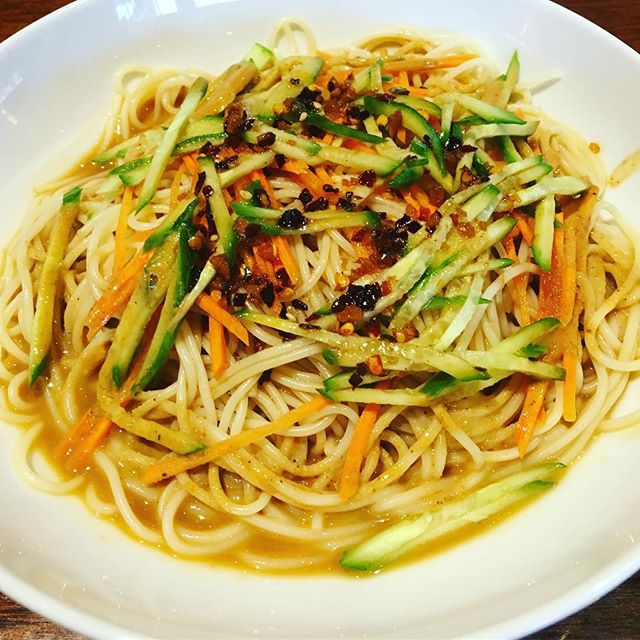 Cold noodle is available now! #awlinsasiancuine #spicyfood #foodie #deliciousfood #authenticchinesefood #yummy😋