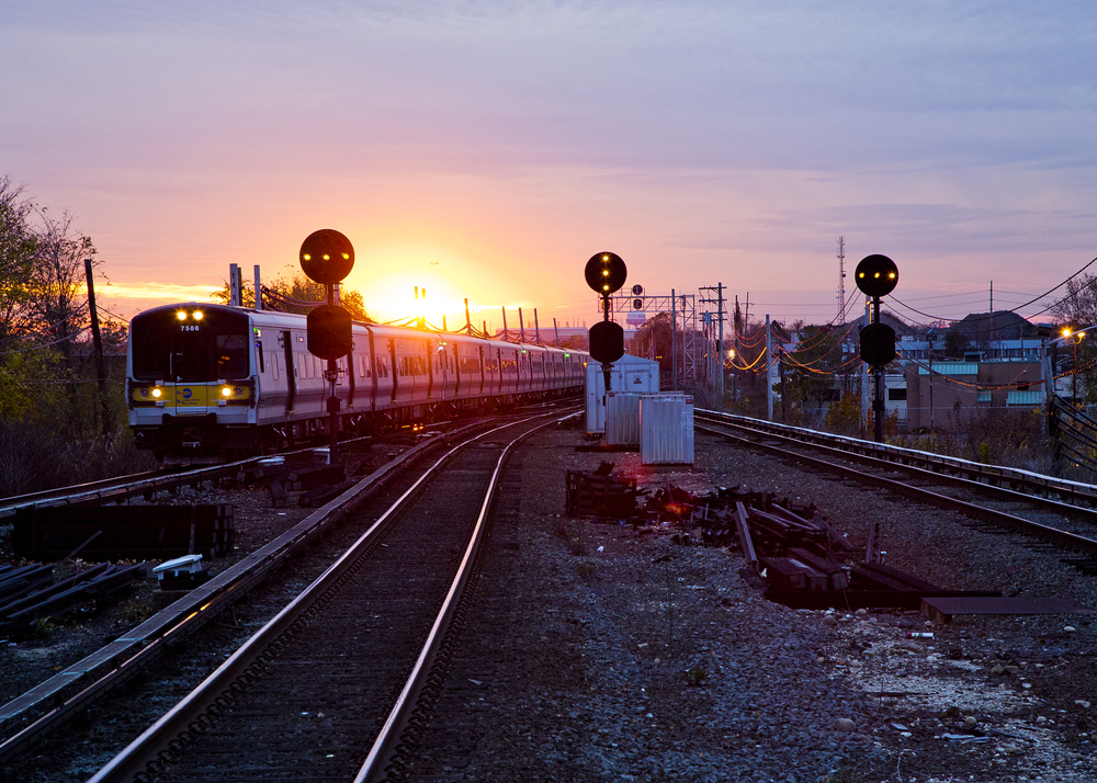 Sunset over the LIRR