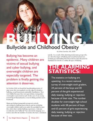 newspaper article childhood obesity