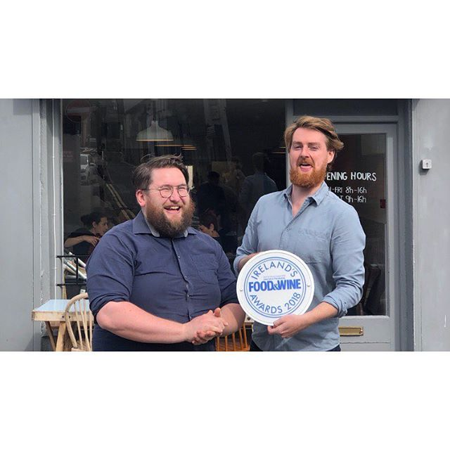 Who could ask for more in a business partner, height and grace @brian__okeeffe . Yesterday the team @meetmeinthemorning & @referencecoffee took home Beat Brunch in Ireland @foodandwinemagazine Awards. For me this award just proves what I've always felt about the amazing staff that have worked in MMIM the work each person does in those two small buildings has such a wonderful impact on the world. I'm proud to call them my friends and lucky to have them as co-workers. The kitchen, front of house and barista teams never give less than 100% and myself and that lucky fella in that picture are blessed to have them support our mad ideas. Thank you @snoop_d0m @maudgaudinbxl @_rncnr @bacon_skateart @thomas.gallo.nz @rosa_____jones @katiemirocha @emmamcg2 and all the rest of our socialess media staff! Also big peppers to our handful amazing suppliers @mcnallyfamilyfarm @ballyhouramushrooms @fingalferguson @toonsbridge and @west_cork_garlic