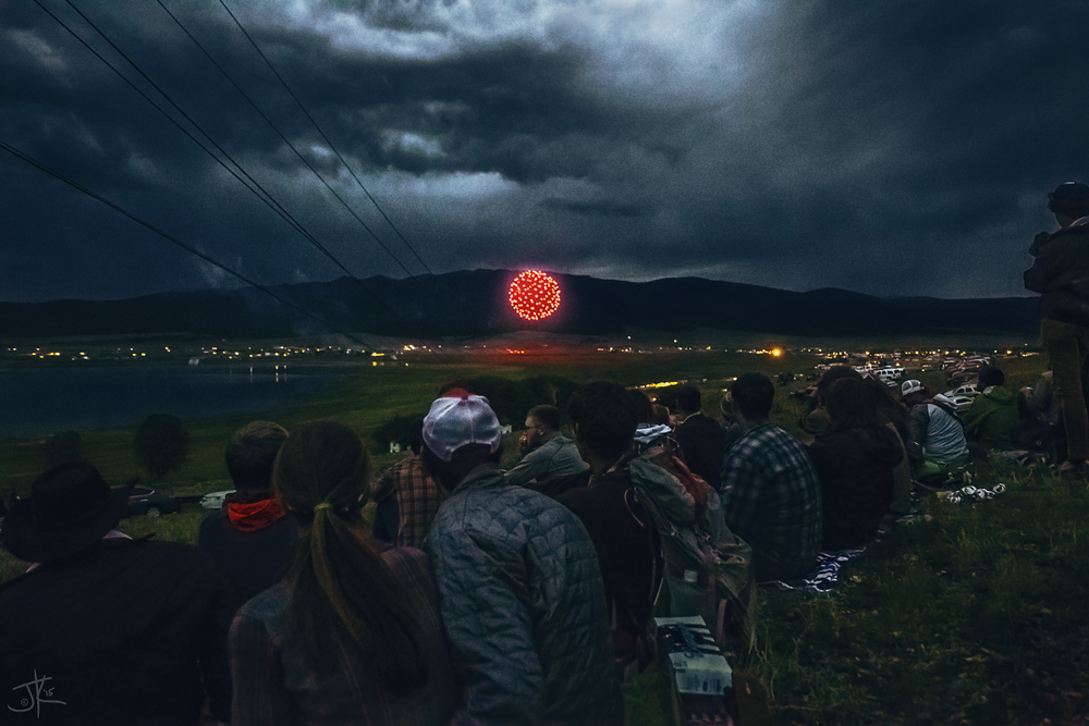 Mountain fireworks are way better than beach fireworks. Hands-down.
