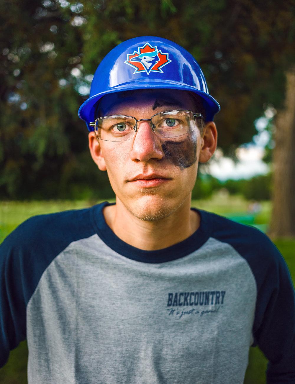 Jake Koch softball portrait Philmont